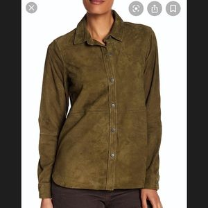 """New! Current Elliott """"Clean Perfect Shirt"""" leather"""